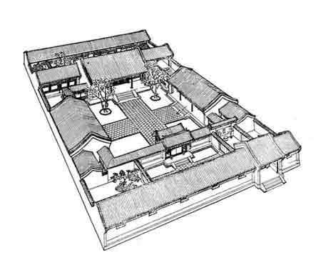 唐代木式结构建筑平面图